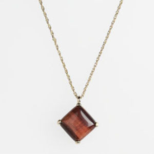 Kendra Scott Portia necklace Tiger's Eye/Gold